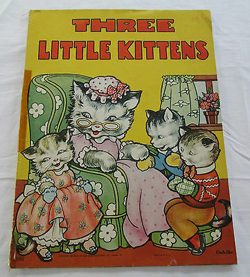 1961 THREE LITTLE KITTENS BOOK SAALFIELD PUB. AKRON OH. - USA Childs Story Time