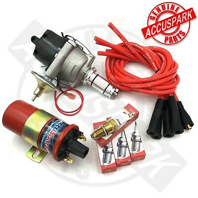 TR3, TR4, TR4a Stealth Electronic Ignition Performance Kit 25D4 Positive Earth