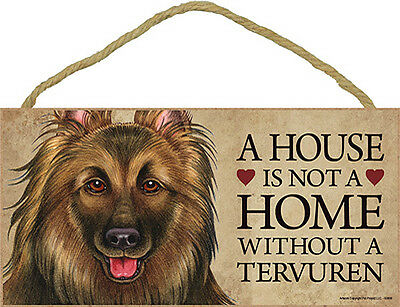 Belgian Tervuren Indoor Dog Breed Sign Plaque – A House Is Not A Home + Bonus...