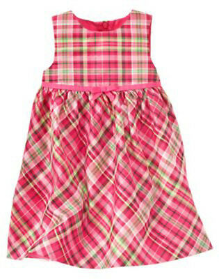 GYMBOREE 6-12 18-24 2T Holiday Celebrations Plaid or Red Dress Choice NWT