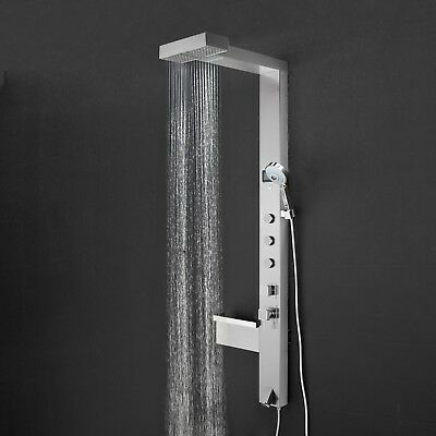 "59"" Stainless Steel Massage Spa Shower Panel Bathroom Wall Mount Waterfall"