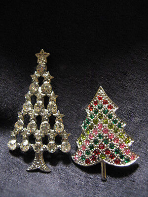 2-christmas tree pins K18