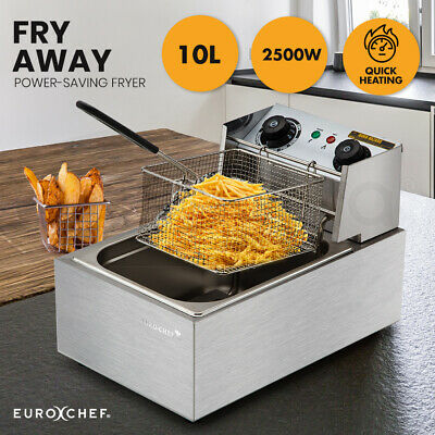 Euro-Chef Commercial Electric Deep Fryer Frying Basket Chip Cooker Fry Scoop