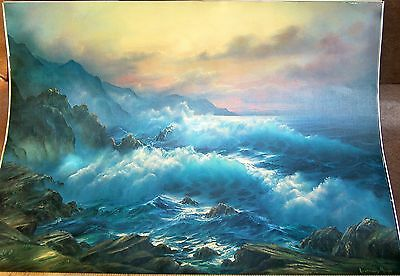 Big Sur At Sunset Painting Print by Rosemary Miner ~ Signed Numbered FREE SHIP !