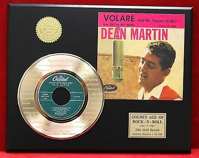 Dean Martin That's Amore 24k Gold Record & Picture Sleeve Display USA Ships Free