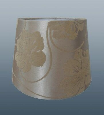 """Beautiful 8"""" Flower Flock Fabric Shade In Mink Colour For Table Lamp Or Ceiling"""