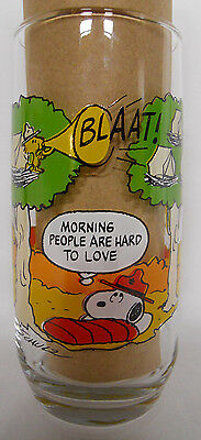 VINTAGE! 1983 McDonald's Peanuts Camp Snoopy Glass-Morning People