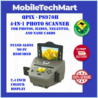 QPIX◉PS970H◉4 in1◉DIGITAL PHOTOS NEGATIVE SLIDE FILM NAME CARD SCANNER◉5.1MP◉LCD