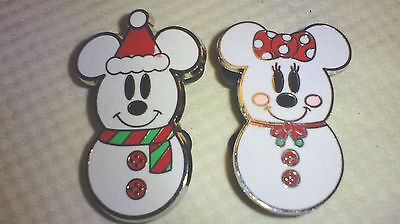 DISNEY Pin 73429: Mickey Mouse and Minnie Mouse as Snowmen available in 2009
