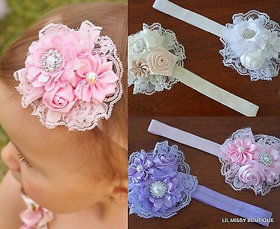 Baby Headbands Headband Flower Girl Newborn Toddler Hairband Christening Wedding