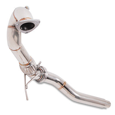 """3"""" Stainless Sport Exhaust De Cat Decat Downpipe For Audi A3 S3 8L Tt 8N 225 Bhp"""