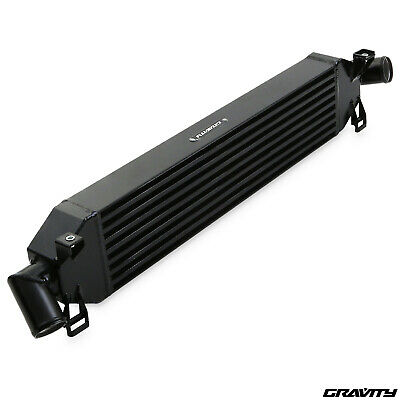 BLACK 600x145x65 FRONT MOUNT INTERCOOLER FMIC KIT FOR FORD FOCUS ST225 ST RS 225