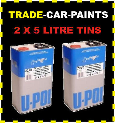 CAR PAINT 1K ACRYLIC RFU CLEAR LACQUER HIGH GLOSS 2 X 5lt NO THINNERS REQUIRED