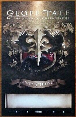 GEOFF TATE Kings & Thieves Ltd Ed Rare Poster +FREE Metal Poster! QUEENSRYCHE