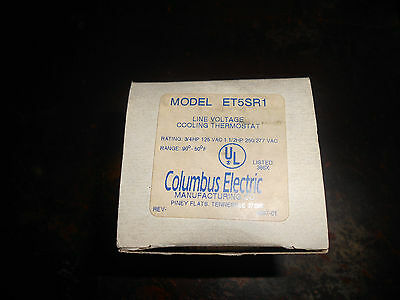 """Columbus Electric In-Line Cooling Thermostat ET5SR1 """"NIB"""""""