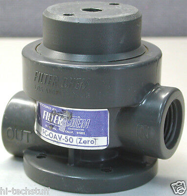 "Filter Chem PVC One Way Air-Operated Valve, ½"" FC-OAV-50"