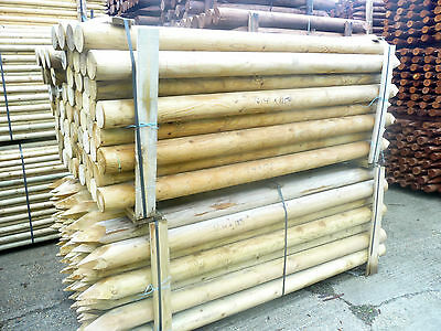 "60 Extra Long Fencing Fence Posts 2.4M (8ft) X 125 MM (5"")"