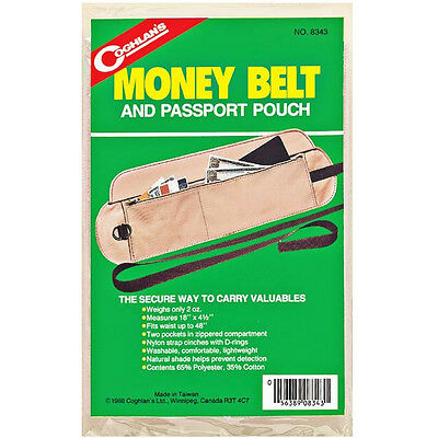 COGHLAN'S MONEY BELT AND PASSPORT POUCH - Trips, Traveling, Secure, Safe