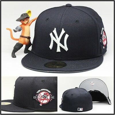 d6c928967f5c0 New Era New York Yankees Fitted Hat Cap 100th Anniversary Side Patch MLB  59fifty