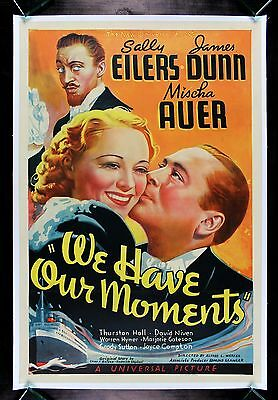 WE HAVE OUR MOMENTS * CineMasterpieces LOVE KISS ORIGINAL MOVIE POSTER 1937