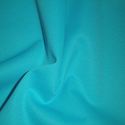Tissu imperméable PUL polyester uni Turquoise (couches lavables)
