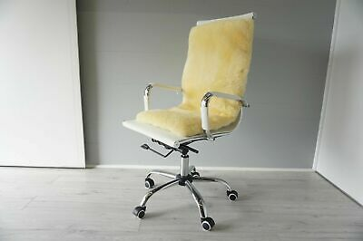 Genuine Medical Sheepskin Seat & back Pad Mats - Super Soft Wool - All chair