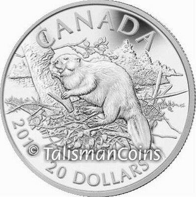 Canada 2013 Beaver $20 1 Troy Oz Pure Silver Proof Coin in Full OGP