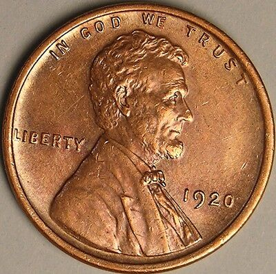 1920 P Lincoln Wheat Penny, Cent, Unc Gem  Bu Choice Uncirculated Red,  Aa-851