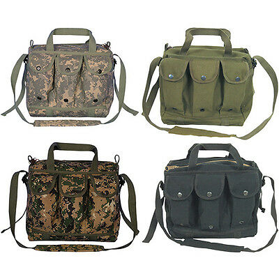 "MAG/MAGAZINE SHOOTERS BAG - Canvas Shoulder Strap Carry Handle, 11"" x 10"" x 6.5"""