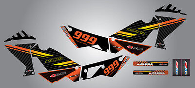 KTM 990 Adventure  Custom Graphic  Kit -FACTORY STYLE