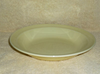 T.S.& T. LuRay Pastel Yellow Shallow Soup or Salad Bowl with Rim