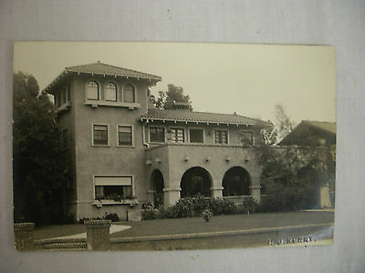 Vintage Real Photo Postcard California Mission-Style Home 1915