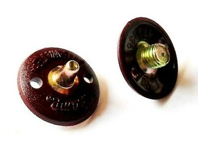 "42 x Champ lite-wate 6mm Metal Spikes ""NEW"" burgundy/gold"