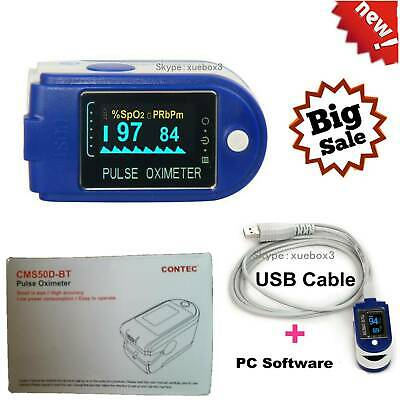 Finger Pulse Oximeter,Blood Oxygen Saturation,USB port,Software,SpO2,Promotion.