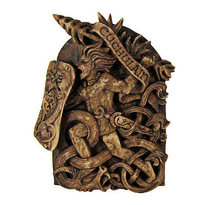 Cuchulain Wall Plaque - Wood Finish - Dryad Design Celtic God Wicca Wiccan Pagan