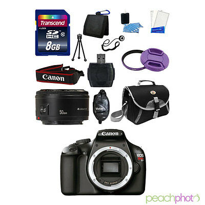 NEW Canon EOS T3 1100D SLR Camera with 50mm 1.8 SUPER VALUE Purple KIT USA