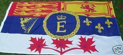 Royal Canadian Standard Flag Mountie Monarchist Queen Elizabeth II Jubilee 5x3