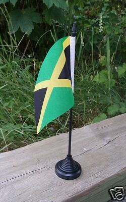 Jamaican Desk Top Flag. Jamaica reggae caribbean Rasta Tourism Cricket Sports bn