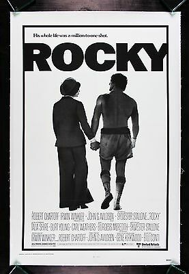 ROCKY * CineMasterpieces ORIGINAL BOXING MOVIE POSTER LINEN BACKED 1976