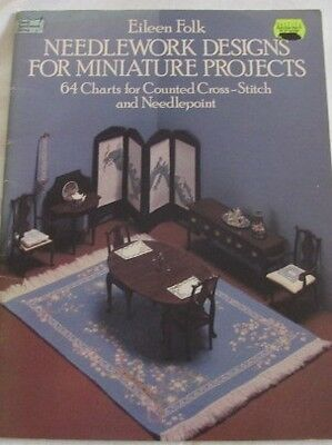 Dover Needlework Series Needlework Designs for MINIATURE PROJECTS 64 Charts