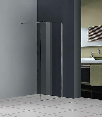 800x1850mm Walk In Wet Room Glass Shower Enclosure Screen Panel