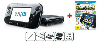 Wii U Black Premium Pack PAL AUS *BRAND NEW*+ 12 Months Warranty!