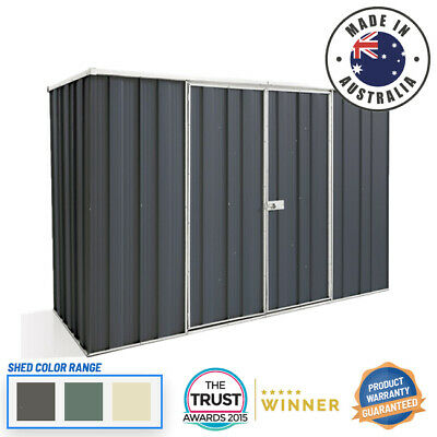 Cheap Shed 2.8m x 1.07m Flat Roof Dbl Dr Colour Garden Shed - ON SALE