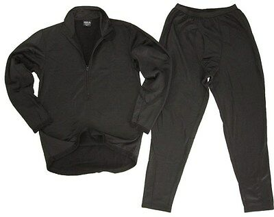 New ECWCS Thermal Underwear Black - All Sizes Top and Bottom Fleece Underlayer