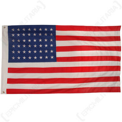 vintage american 50 star flag bunting valley forge size 52 by 113