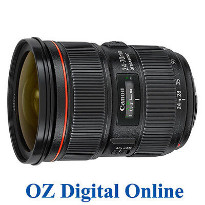 New  Canon EF 24-70mm F/2.8 L F2.8 24-70  II USM Lens for 5D 7D 1 Year Au Wty