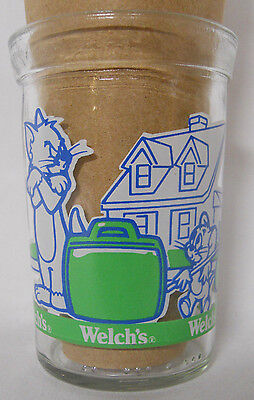 VINTAGE! 1993 Welch's Tom & Jerry: The Movie Jelly Jar Glass-Moving