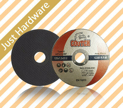 "5"" 125MM ULTRA THIN METAL CUTTING DISCS METAL STAINLESS STEEL x 50 pcs"
