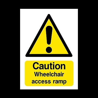 Wheelchair Access Ramp Sign & Sticker All Sizes! All Materials! Free P+P (Dda13)
