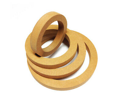 "16mm MDF Ring 100mm / 4"" / 10cm Lautsprecher Holzring Montagering Adapterring"